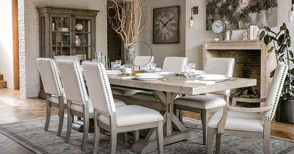 Newport Estates: New Traditional Style – Living Spaces Email Archive Within Walden 9 Piece Extension Dining Sets (Image 13 of 25)