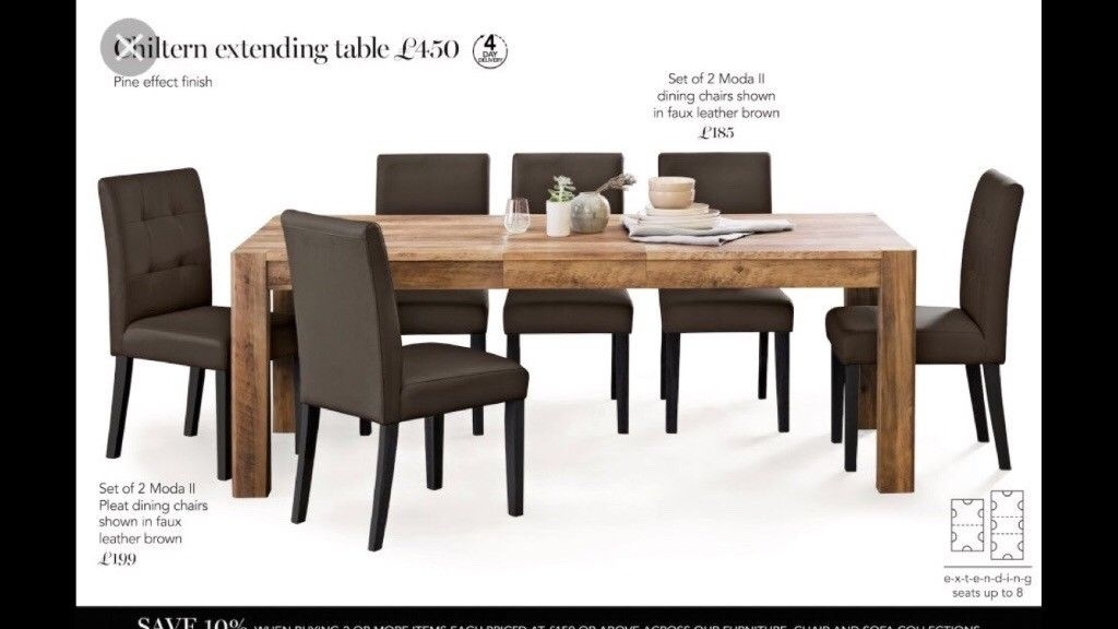 Next Chiltern Extending Dining Table And 8 Chairs | In Glenrothes in Extendable Dining Tables With 8 Seats