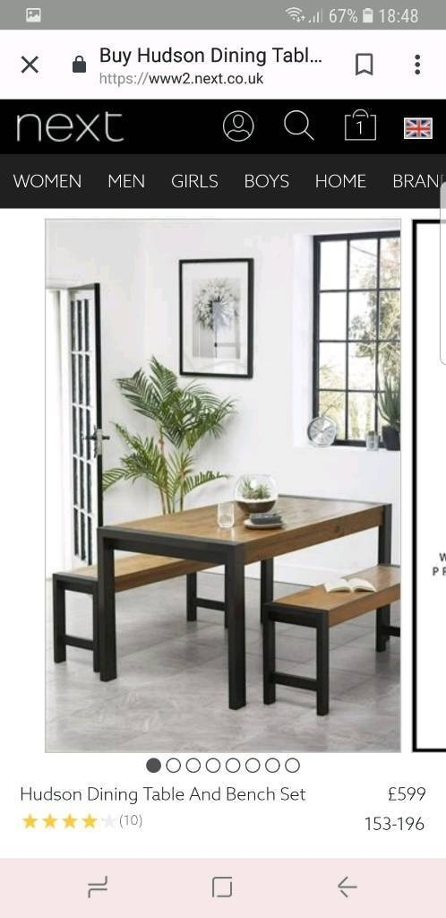 Next Hudson Dining Table And Benches | In Dromore, County Down | Gumtree Pertaining To Next Hudson Dining Tables (Image 22 of 25)