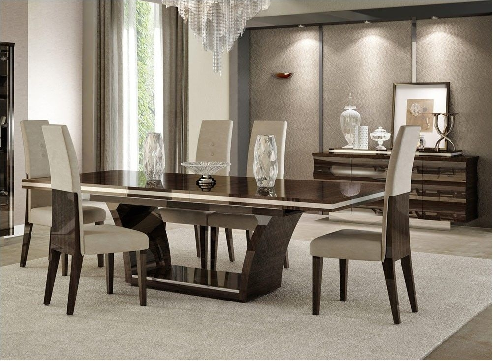Nice Giorgio Italian Modern Dining Table Set – Contemporary Dining With Regard To Contemporary Dining Sets (View 8 of 25)