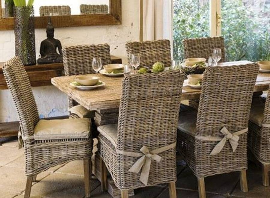 Nice Rattan Dining Chairs : Ideas To Paint Rattan Dining Chairs Regarding Rattan Dining Tables (Photo 21 of 25)