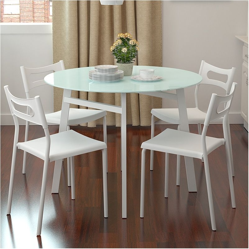 Nice Small Round Drop Leaf Dining Table Cole Papers Design Round Inside Small Round White Dining Tables (Image 10 of 25)