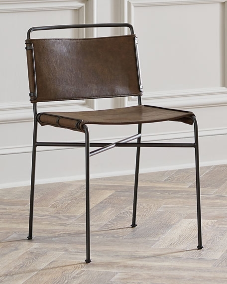 Nicholas Leather Dining Chair pertaining to Leather Dining Chairs