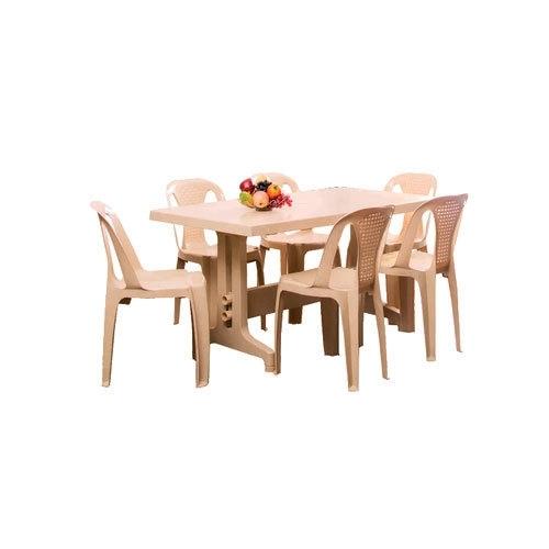Nilkamal Marble Beige Imperial Dining Table Set, Rs 6617 /set | Id Within Imperial Dining Tables (View 8 of 25)