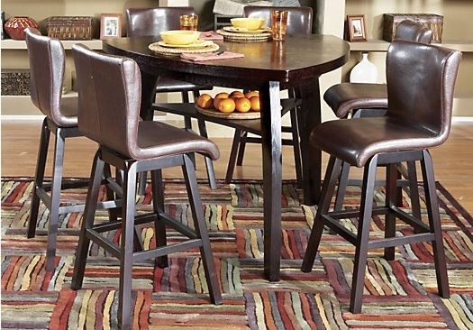 Noah Chocolate 4 Pc Bar Height Dining Room | Dinning Room Decor with regard to Noah Dining Tables