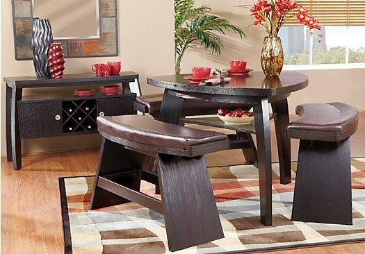Noah Chocolate 4 Pc Bar Height Dining Room | Pinterest | Dining Room Regarding Noah Dining Tables (View 10 of 25)
