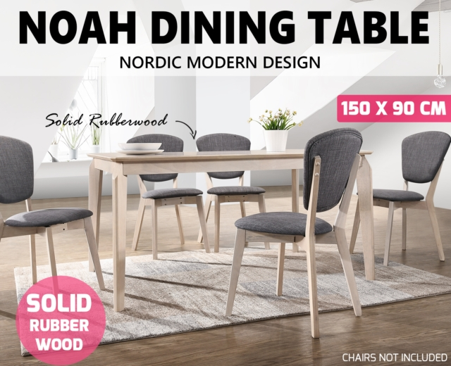 Noah Designer Dining Table 150X90 Cm 6 Seater Scandinavian Solid pertaining to Noah Dining Tables