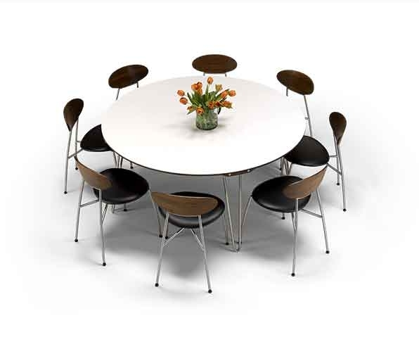 Non-Wood Dining Tables | Wharfside Luxury Furniture with regard to Non Wood Dining Tables