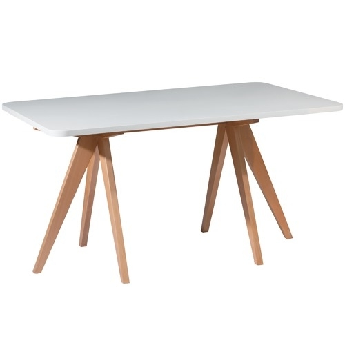Nora Beech Wood 160Cm Dining Table | Temple & Webster Within Nora Dining Tables (Image 6 of 25)