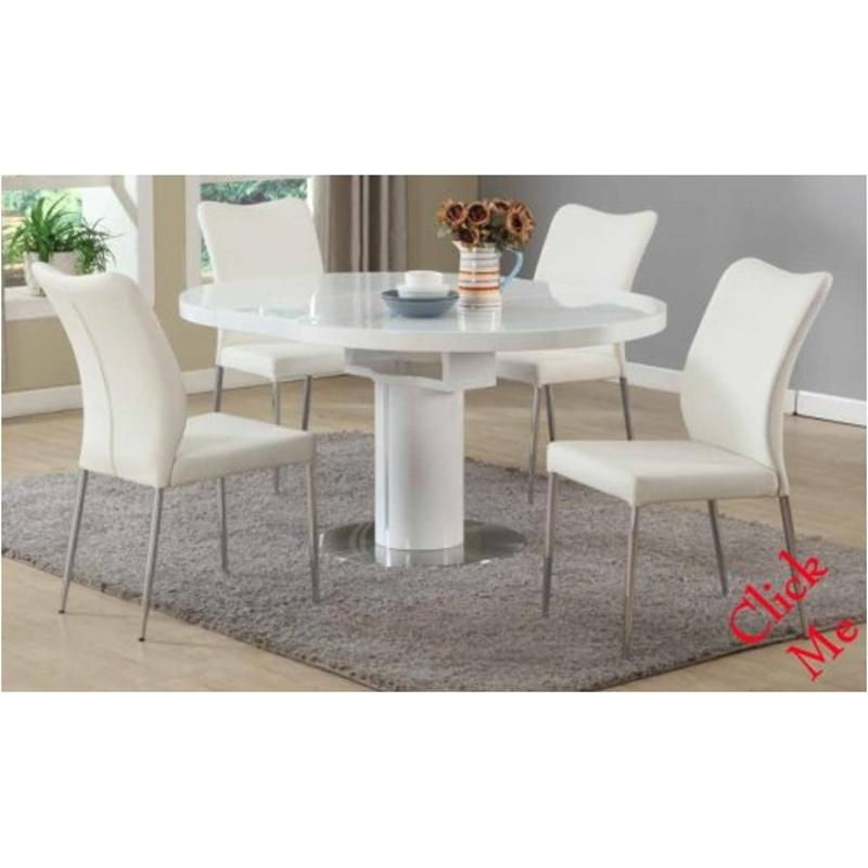 Nora Dt Wht T Chintaly Imports Furniture Nora Nora Table – White Pertaining To Nora Dining Tables (Image 21 of 25)