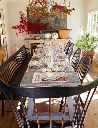 Nora Murphy's Fall Dining Room Is An Indoor Garden | Dining Room Inside Nora Dining Tables (Image 14 of 25)