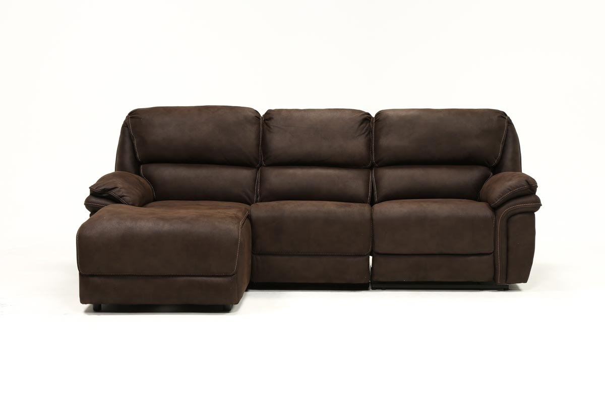 Norfolk Chocolate 3 Piece Sectional W/laf Chaise | Living Spaces For Norfolk Grey 3 Piece Sectionals With Laf Chaise (View 5 of 25)