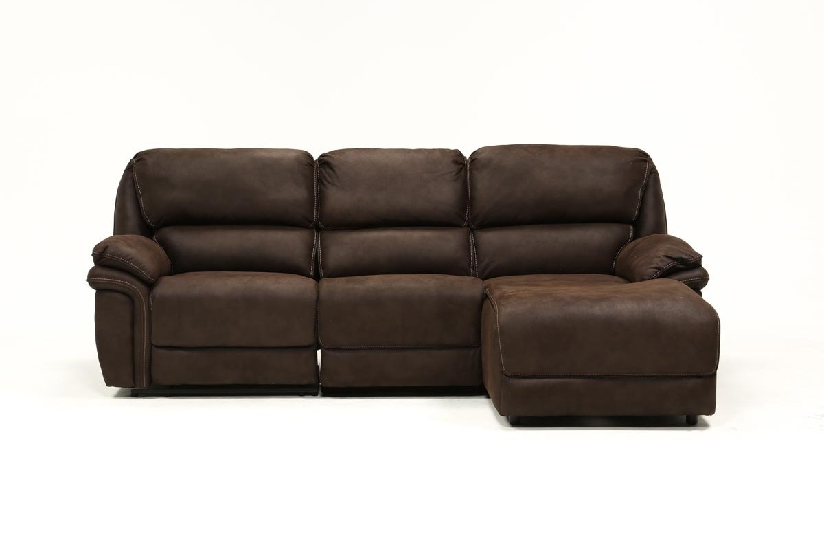 Norfolk Chocolate 3 Piece Sectional W/raf Chaise | Living Spaces In Norfolk Chocolate 3 Piece Sectionals With Raf Chaise (Photo 1 of 25)