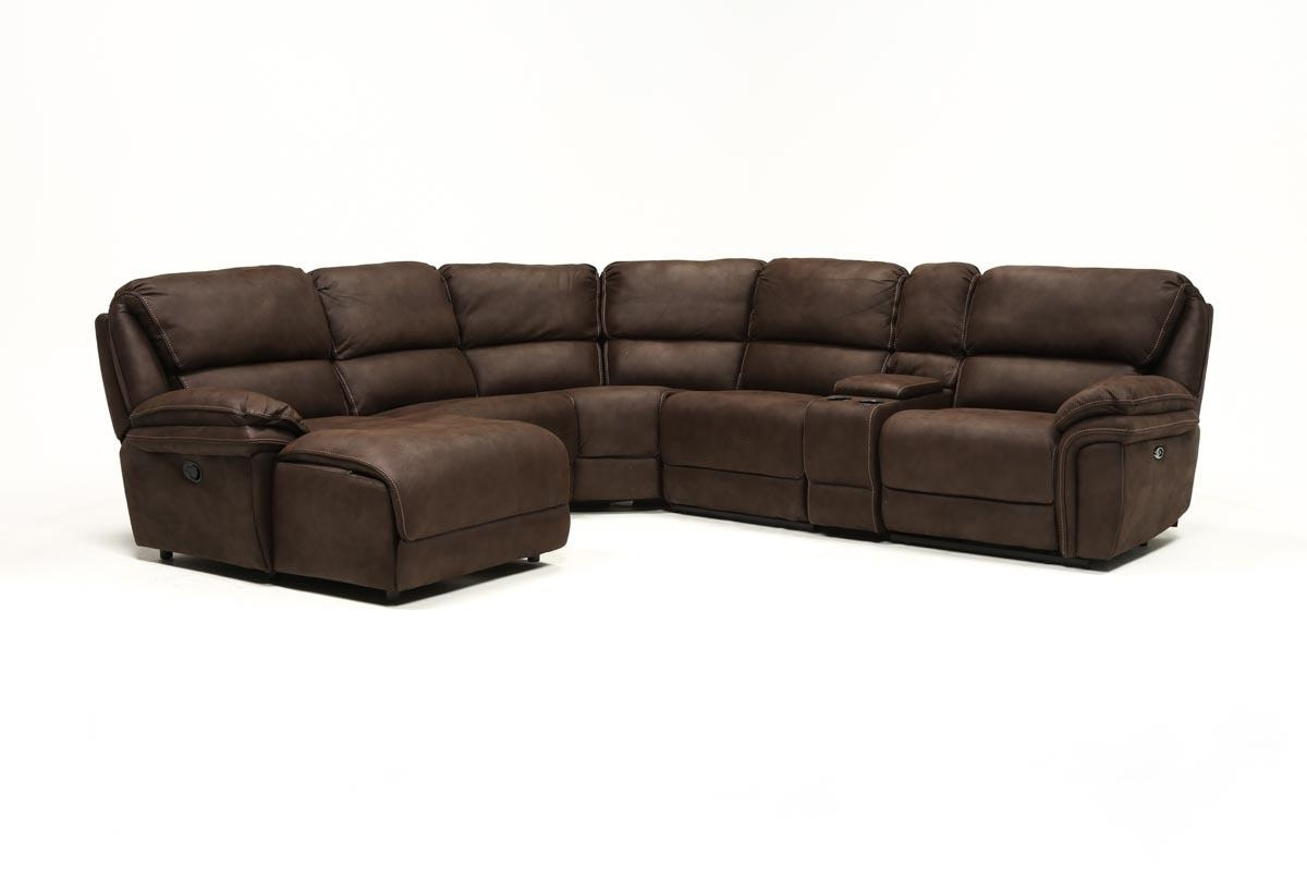 Norfolk Chocolate 6 Piece Sectional W/laf Chaise | Living Spaces Within Norfolk Chocolate 6 Piece Sectionals (Image 16 of 25)