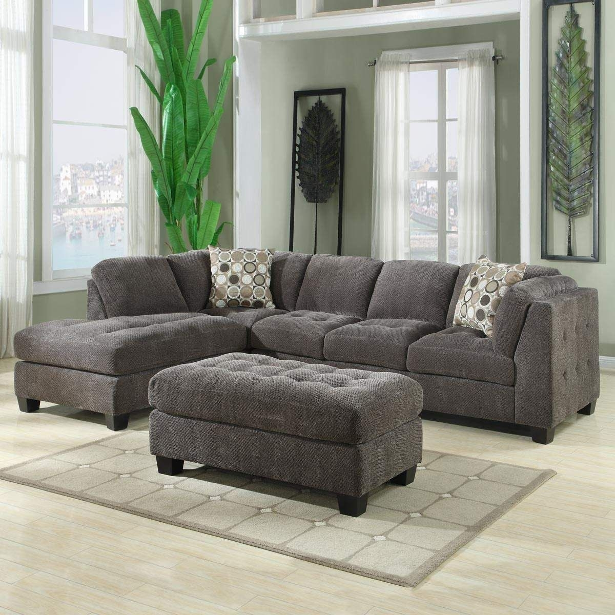 Norfolk Grey 3 Piece Sectional W/laf Chaise For Norfolk Grey 3 Piece Sectionals With Laf Chaise (Image 17 of 25)