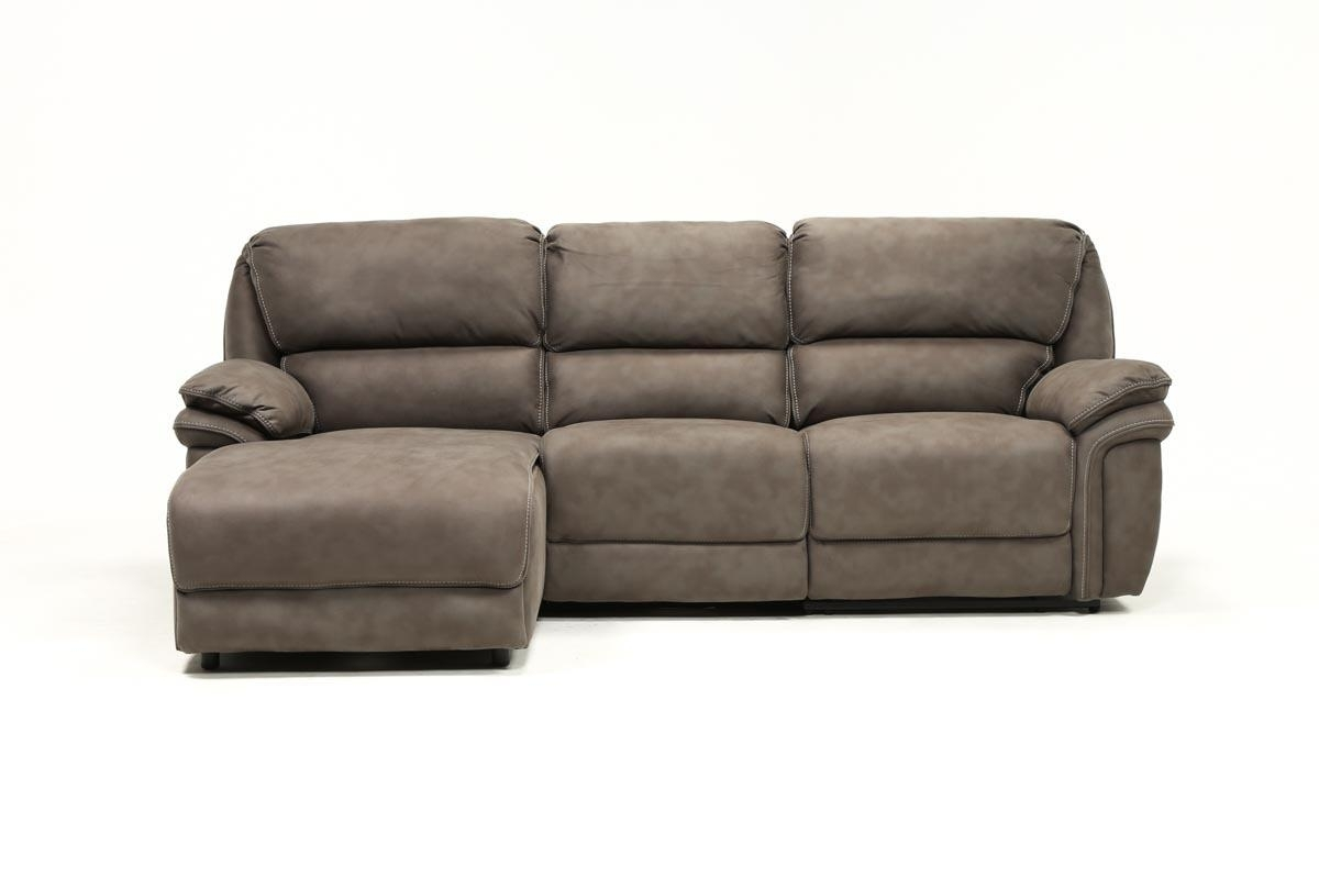 Norfolk Grey 3 Piece Sectional W/laf Chaise | Living Spaces pertaining to Norfolk Chocolate 3 Piece Sectionals With Raf Chaise