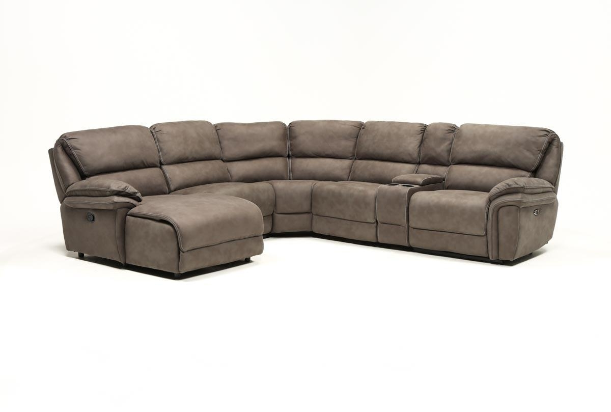 Norfolk Grey 6 Piece Sectional W/laf Chaise | Living Spaces within Norfolk Grey 3 Piece Sectionals With Laf Chaise