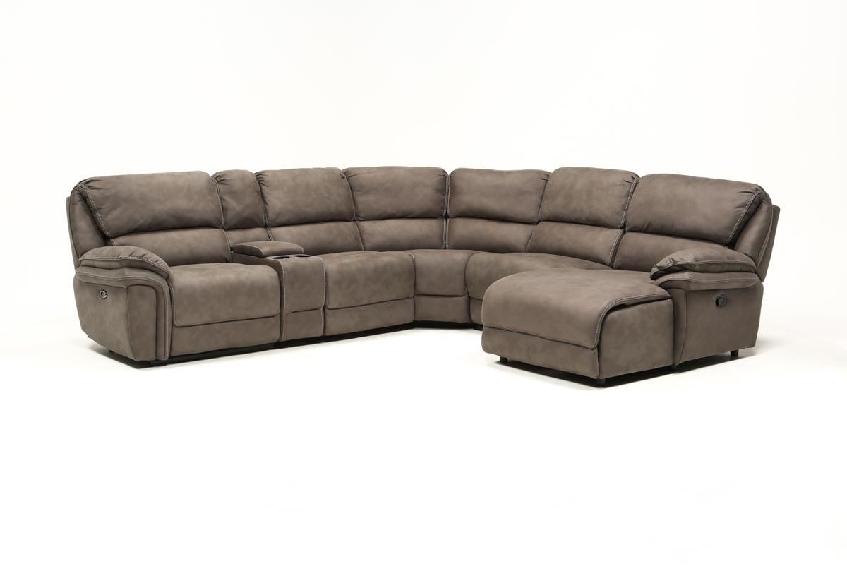 Norfolk Grey 6 Piece Sectional W/raf Chaise | Living Spaces throughout Norfolk Grey 3 Piece Sectionals With Raf Chaise