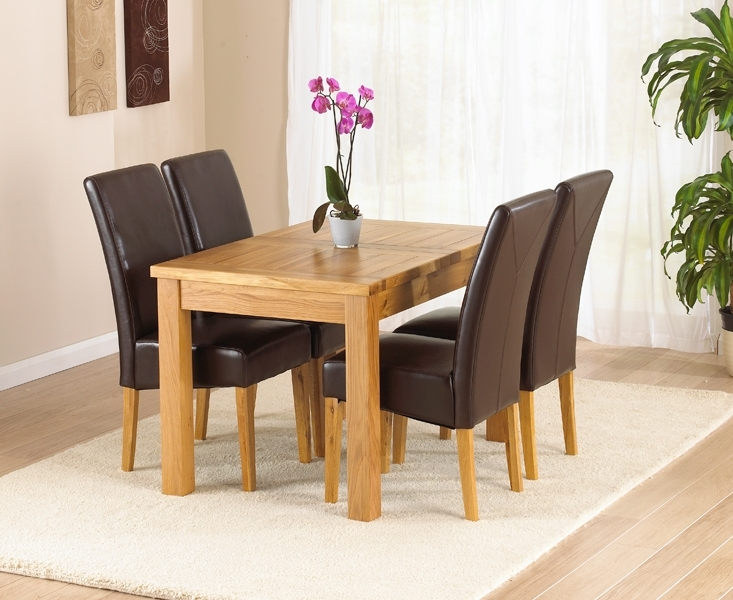 Normandy 120Cm Solid Oak Extending Dining Table With Normandy Chairs In Oak Extendable Dining Tables And Chairs (Photo 18 of 25)