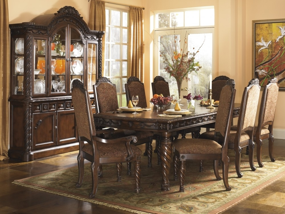 North Shore Rect Dining Room Ext Table & 6 Uph Side Chairs | D553/02 For Market 6 Piece Dining Sets With Side Chairs (View 15 of 25)