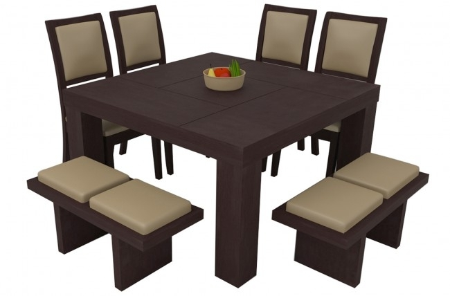 Novara Sienna Dining Table Set 8 Seater (Teak Wood) – Adona Adona Woods With Outdoor Sienna Dining Tables (Photo 25 of 25)