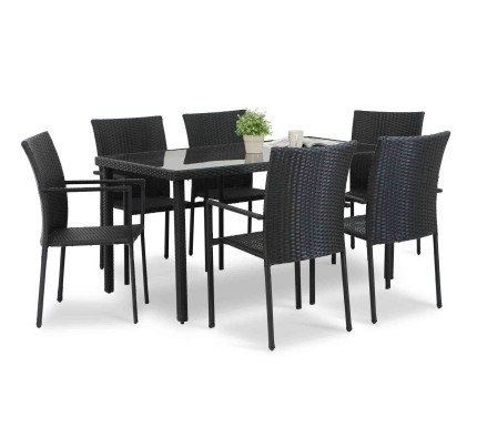 O - Itfoxy in Norwood 7 Piece Rectangular Extension Dining Sets With Bench, Host & Side Chairs