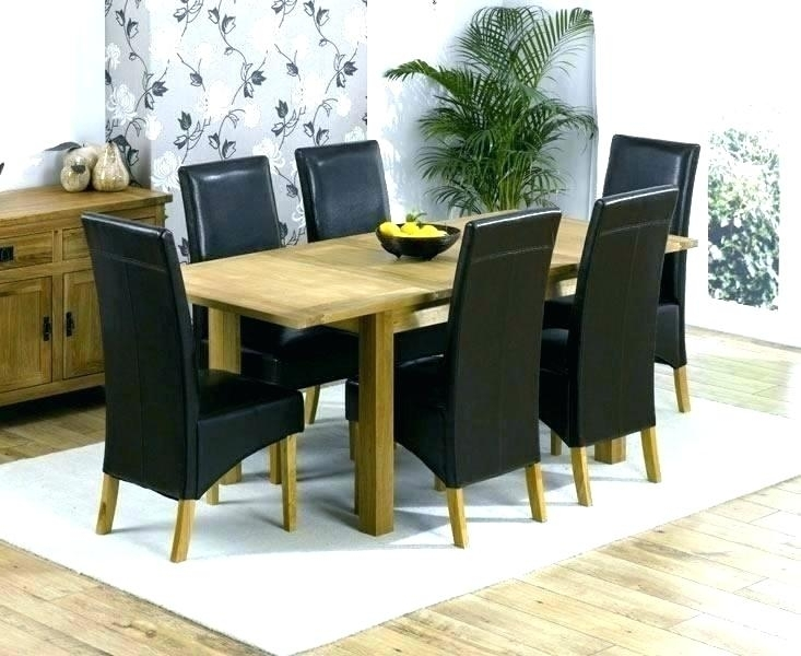 Oak Chairs For Dining Table Bob Solid Oak In Round Dining Table W 6 Within Oak Dining Tables With 6 Chairs (View 11 of 25)