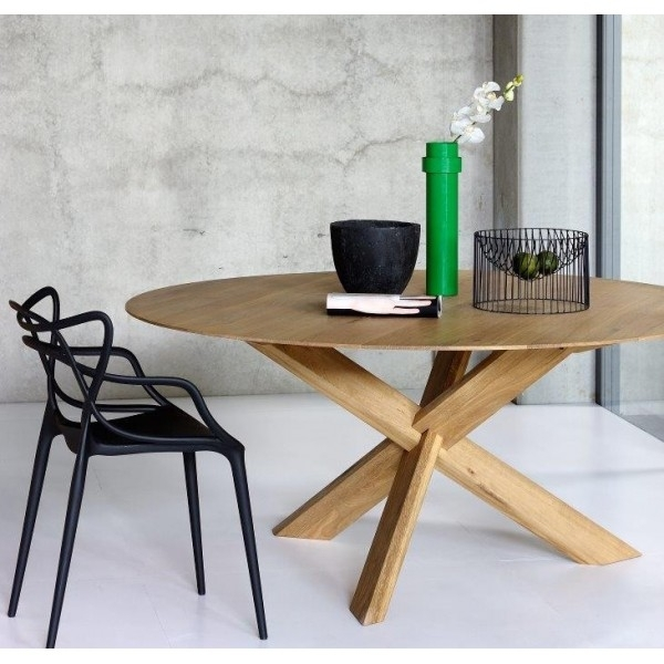 Oak Circle Dining Table | Dining Tables | Ethnicraft | Cuchi For Black Circular Dining Tables (View 11 of 25)