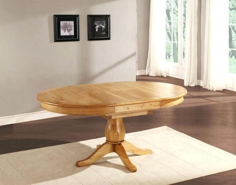 Oak Circular Dining Table Dining Chair Perfect Circular Oak Dining Intended For Circular Oak Dining Tables (Image 11 of 25)