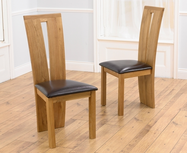 Oak Dining Chairs For Your Dining Room Decor With Oak Leather Dining Chairs (Photo 5 of 25)