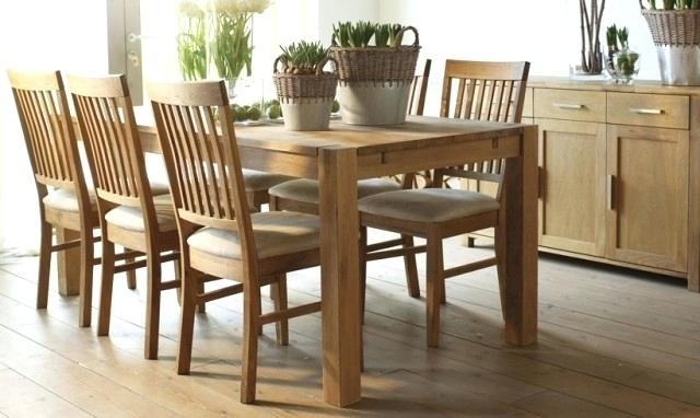 Oak Dining Furniture Limed Chairs Sets Room Land Glass Archaicawful Intended For Oak Dining Set 6 Chairs (Photo 24 of 25)