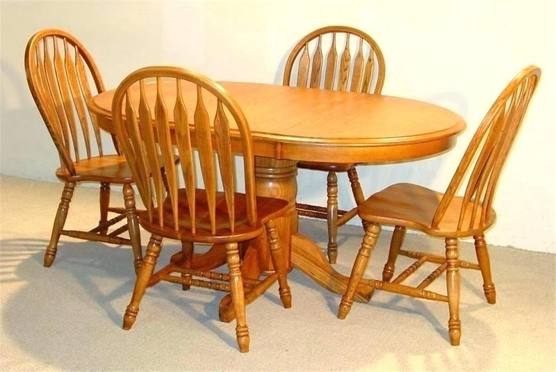 Oak Dining Room Chairs Chair Old Vintage Pressed Back Value Solid Inside Oval Oak Dining Tables And Chairs (Photo 14 of 25)