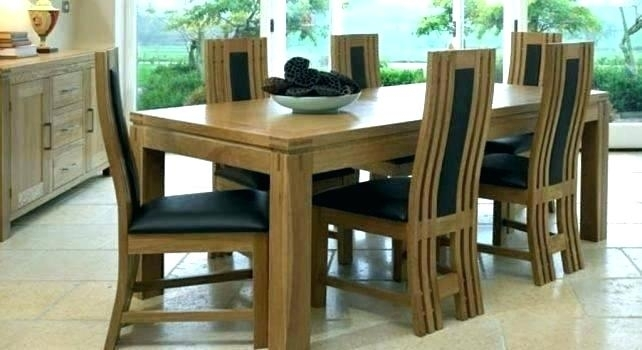 Oak Dining Room Furniture For Sale Table And Chair Sets Set With 6 inside Light Oak Dining Tables And 6 Chairs