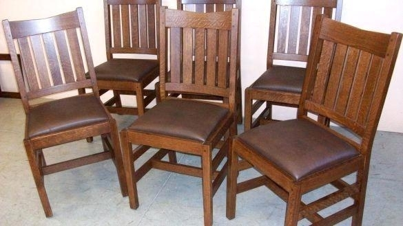 Oak Dining Room Set With 6 Chairs – Ezvanity (Image 16 of 25)