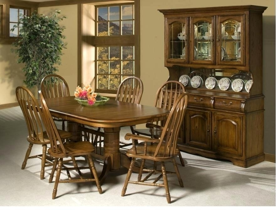 Oak Dining Room Set With 6 Chairs – Ezvanity (Image 17 of 25)