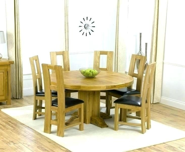 Oak Dining Room Set With 6 Chairs – Ezvanity.gq With Norwood 9 Piece Rectangular Extension Dining Sets With Uph Side Chairs (Photo 11 of 25)