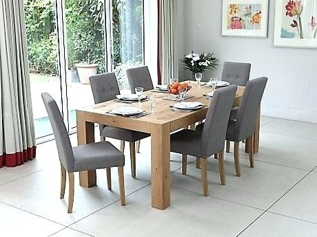 Oak Dining Room Tables And Chairs Beautiful Dining Table 8 Chairs With Dining Tables Grey Chairs (Image 20 of 25)