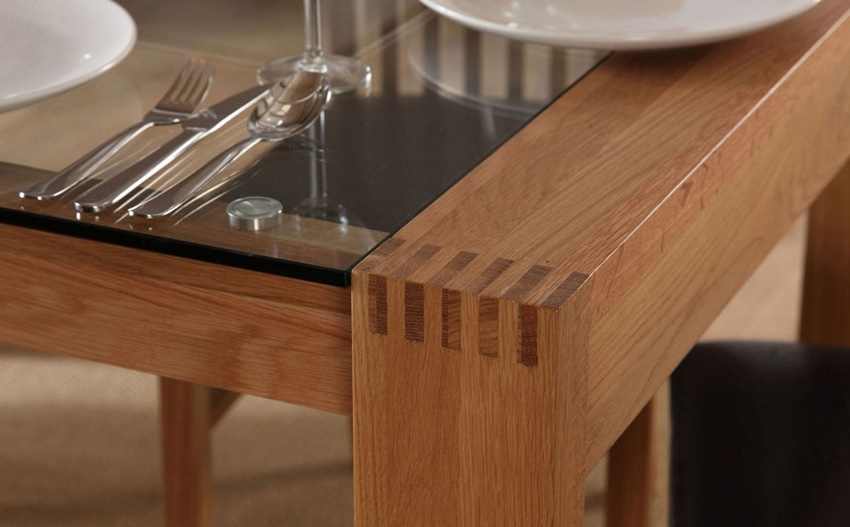 Oak Dining Room Tables For Sale - Www.cheekybeaglestudios throughout Oak Glass Dining Tables