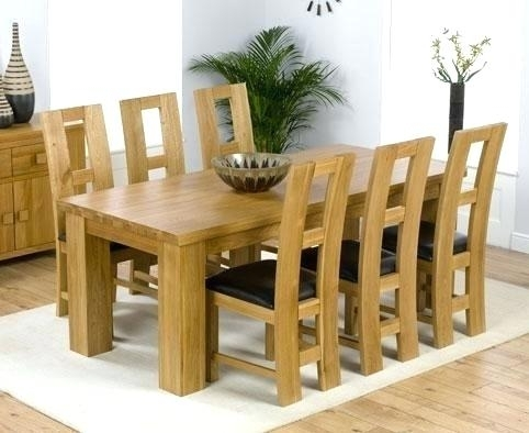 Oak Dining Set 6 Chairs Room Ideas Chair Outdoor Patio Creative Of Within Oak Dining Tables With 6 Chairs (Image 15 of 25)