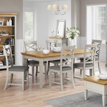 Oak Dining Sets | Hardwood & Painted Dining Sets | Oak World With Extending Dining Tables Set (Image 16 of 25)