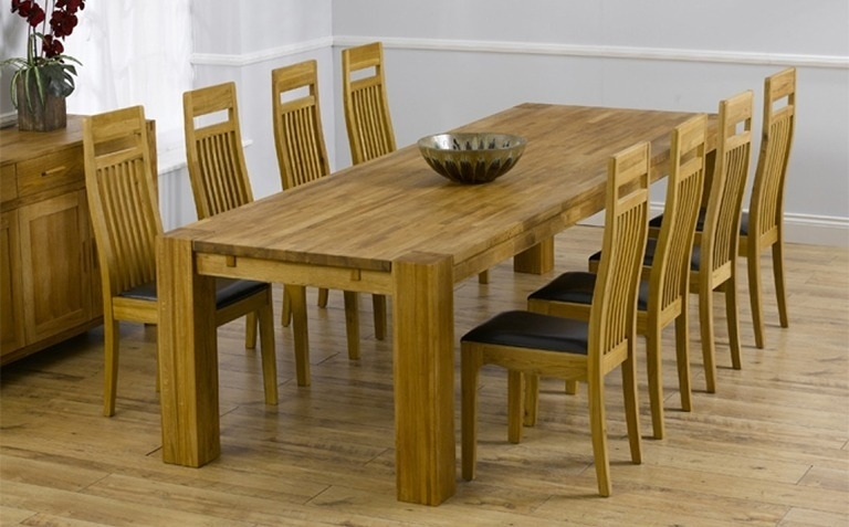 Oak Dining Tab Oak Dining Table And 8 Chairs Luxury Oak Dining Table Throughout Oak Extending Dining Tables And 8 Chairs (Image 20 of 25)