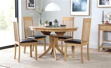 Oak Dining Table 4 Chairs – Ocane with regard to Extending Dining Tables And 4 Chairs