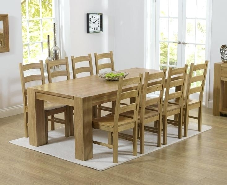 Oak Dining Table And 8 Chairs Sensational Dining Room Decoration With Regard To Solid Oak Dining Tables And 8 Chairs (Photo 5 of 25)