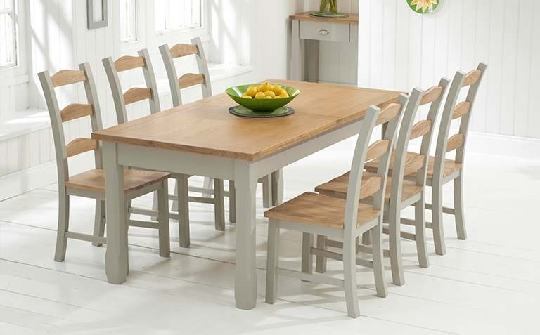 Oak Dining Table And Bench Set – Castrophotos Intended For Oak Extending Dining Sets (Photo 20 of 25)