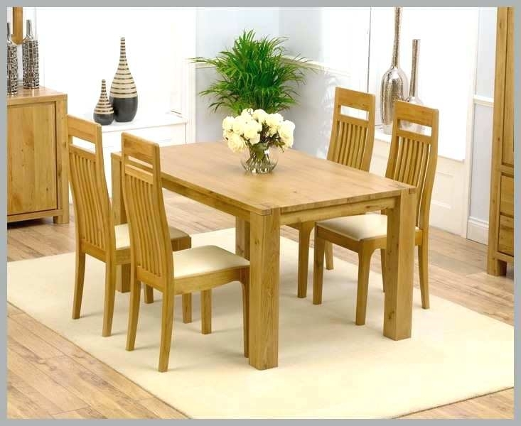 Oak Dining Table And Chairs Circular Oak Dining Table Round Dining Inside Light Oak Dining Tables And Chairs (Photo 11 of 25)