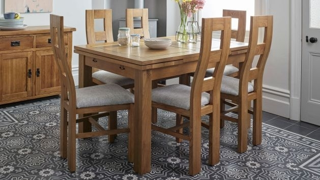 Oak Dining Table And Chairs | Dining Table Sets | Oak Furnitureland Inside Oak And Glass Dining Tables And Chairs (View 12 of 25)