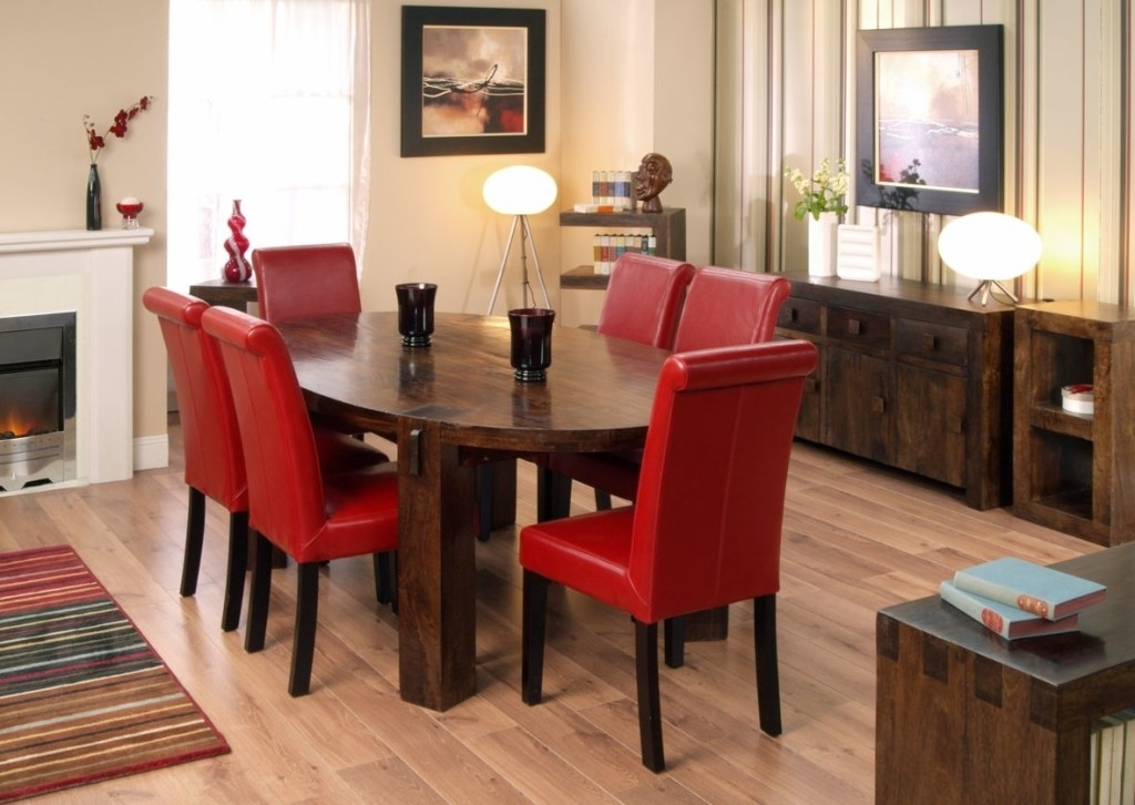Oak Dining Table And Red Leather Chairs | Dining Chairs Design Ideas Within Oak Dining Tables And Leather Chairs (View 19 of 25)