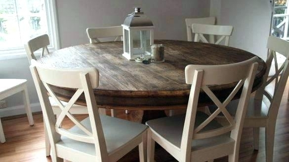 Oak Dining Table Chairs Ebay Room Sets Round For Sale Small Mountain Within Craftsman Round Dining Tables (Image 18 of 25)