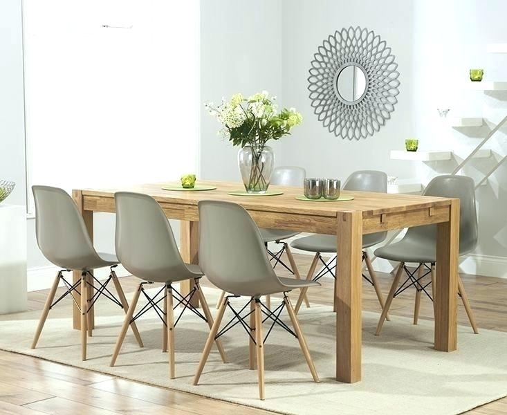Oak Dining Table Chairs Uk Dining Chairs From Furniture Solid Oak Inside Light Oak Dining Tables And Chairs (Photo 20 of 25)