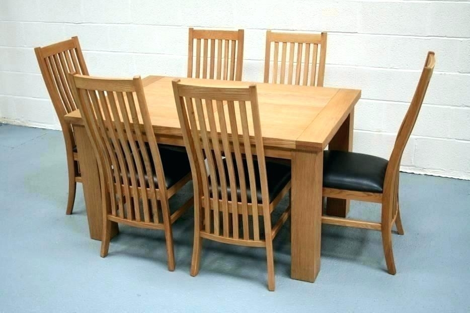 Oak Dining Table Chairs Uk Dining Chairs From Furniture Solid Oak Pertaining To Oak Dining Tables And Chairs (View 25 of 25)